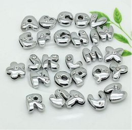 Wholesale Diy 8mm Jewelry Slide Letters - Free shipping Wholesale 260pcs 8mm A-Z Crystal Rhinestone DIY Slide letters cartoon Beads for Charm Bracelet Jewelry Lots Gift