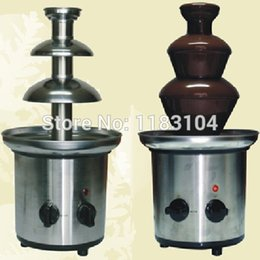 Wholesale Chocolate Fountains Wholesale - Free Shipping 110v 220v Electric 40cm 3-Tier Commercial Chocolate Fountain