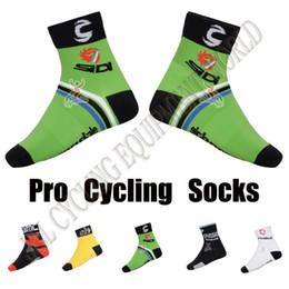 Wholesale Bicycle Silk - Quick-Dry Coolmax Material Green Bicycle Sport Socks MTB Bike Socks Comfortable Racing MTB Cycling Ciclismo Cycle Sock