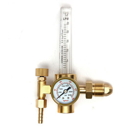 Wholesale Valve Regulators - Freeshipping CO2 Argon Pressure Reducer Flow Meter Control Valve Regulator Reduced Pressure Gas Flowmeter Welding Weld Flowmeter