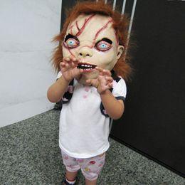 Wholesale Chucky Full Head Mask - CHUCKY Halloween Mask Latex Full Head Adult Costume Halloween Creepy Scary Horror Mask Party Mask Free Shipping