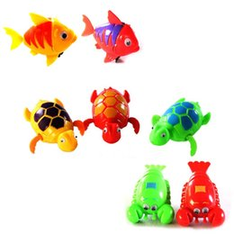 Wholesale Wholesale Baby Shower Items - Cute Wind-Up Clockwork Bath Toys Animals Frog Fish Baby Shower Swimming Pool For Baby Kids Randomly