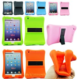 Wholesale Ipad Tablet For Kids - Kids Shock Proof Silicone Sofe Gel Case Stand Cover For Apple ipad mini 1 ipad mini 2 ipad mini 3 Tablet Comfortable protector