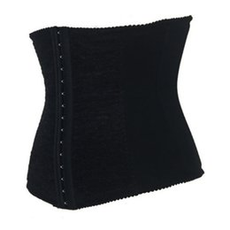 Wholesale Full Steel Bone Corset - Wholesale-New Full Steel Bone Waist Training Corset Hanging Shoulder Sexy Leather Bustiers For Women Push Up Corset 0095