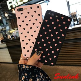 Wholesale lovely japanese - cute cellphone case Japanese and Korean style lovely sweet heart cute comfortable pc case for iPhone X 8 8P 7 7P 6 6P