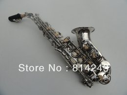 Wholesale Nickel Plating Brass - French Henry Selmer B Saxophone Soprano Bend Saxophone Reference 54 Surface Nickel Plating Sax Musical Instruments