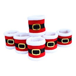 Nova Moda Anéis De Guardanapo De Toalha de Natal Serviette Titular Mesa Jantar Partido Elegante Talheres Tampa para Casa Decorações De Natal de Fornecedores de anel de guardanapo elegante