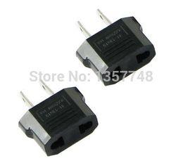 Wholesale Eur Power Plug - 2 x AC Power Plug Adapter for EUR to USA Travel plug