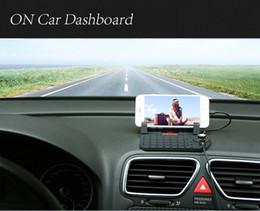 support de chargeur de voiture iphone 5s Promotion Gros-nouveau arrivée mobile support avec recharge USB câble pour iPhone5 iPhone6 Micro voiture tableau de bord réglable support aimant connecteur