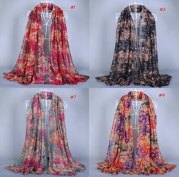 Wholesale Girl Muslim Scarf Hijab - 2015 design printe plaid shade color viscose cotton shawls spring hijab muslim long wrap pashmina head scarves scarf 10pcs lot