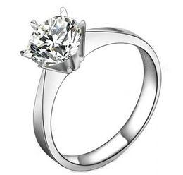 100% 925 sterling silber 1CT sona Simulierte diamanten Unendlichkeit silberne hochzeit ringe für frauen, 14 karat solid weiß vergoldet hochzeit ring von Fabrikanten