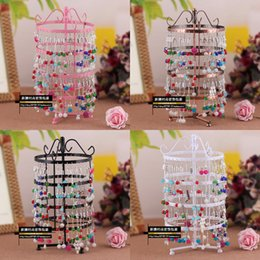 Wholesale Holes Rotating Earrings - Christmas 144 Holes Rotating Earrings Metal Jewelry Display Stand Rack Holder Organizer Stand