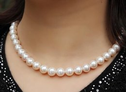 Wholesale White Pearls Buy - Best Buy Pearls Jewelry NATURAL AAA+ 10-11MM SOUTH SEA WHITE ROUND PEARL NECKLACE 18INCHES 14K