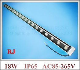 Wholesale Led Light Rgb Monochrome - 18W LED wall washer light lamp LED staining light bar light barlight flood light floodlight AC85-265V RGB and Monochrome 18*1W