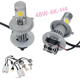 Wholesale Led Car Headlight Bulb Cree - New brand Car CREE H4 6000K LED Headlight Conversion Kit H L 48W 2*24Watt LEDs Lamp