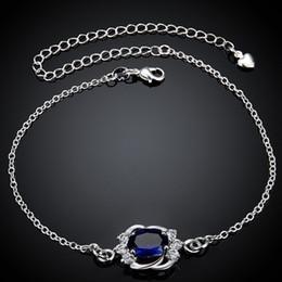 Bracelets pour copines en Ligne-Bracelet de cheville argent 925 cheville bracelets cheville pour petite amie Bracelet .925 Bracelet de bijoux boho argent 925 Sterling argent coréen cheville