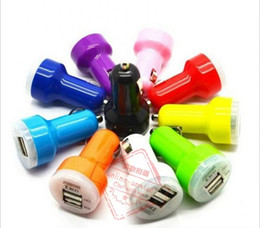 Wholesale Dual Usb Car Charger Pink - Top Quality Dual Port USB Car Charger USB Adapter 2.1A Colorful Car Charger for ipad iPhone 7 6 6+ PLUS 5S 4S Samsung Galaxy S6 S5 Note 4