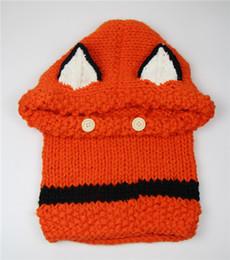 лисий шали Скидка Шерсть вязаная шапка Шаль колпачок использовать осенью зимой появление Фокс уши детские детские детские шапки тепла в 2015 году