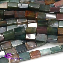 Wholesale Purple Jasper - Natural Genuine Fancy Jasper India Agate Square Rectangle Shape Loose Stone Beads Fit Jewelry DIY Necklaces or Bracelets 03762