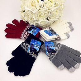 Wholesale I Pad Touch - Wholesale-Winter Knitted iglove Pad iPhone Phone Screen Touch Gloves outdoor hand wrist fitness gloves for women and men, I glove Mittens
