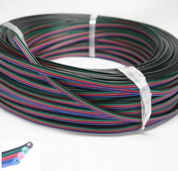 Wholesale Rgb Connectors - 5m 10m RGB 4-Pin Extension Wire Connector Cable Cord For 3528 5050 RGB LED Strip LED DIY part