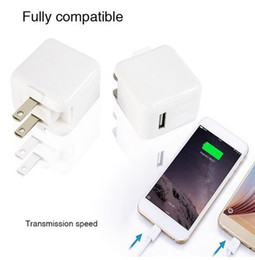 Wholesale Wall Phone Chargers - Universal 2.4A 12W Fast USB Port Wall Home Travel Portable Phone Charger Adapter For Smaung S7 S8