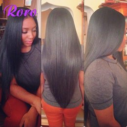 Wholesale Cheapest Straight Weave - Cheapest 100% Indian Hair Extension Unprocessed Virgin Hair Weaves Double Weft Natural Color Silky Straight Hair Bundles 8-28 Bella Hair