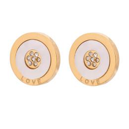 Wholesale Shell Earings - 2015 Austrian Crystal Stud Earrings For Women Gold Bridal Wedding Earring Bijoux Femme Shell Earings Fashion Jewelry