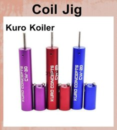 Wholesale Wire 1mm - Kuro Koiler Wire Coiling Tool Combined 1mm&1.5mm&2mm&2mm&3mm Kit RDA Coil jig Coil Winder for E Cigarette RBA RDA Atomizer FJ061