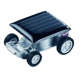 Wholesale Small Cars Kids - Wholesale- New Smallest Mini Car Solar Powered Toy Car New Mini Children Solar Toy Gift Baby Kid Solar Car Toy
