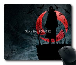 Wholesale Naruto Mouse - Wholesale-Naruto shippuden uchiha itachi sharingan Good Quality Rubber Mousepad Gaming Mouse Pad