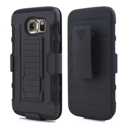 Wholesale Belt Clip Combo - For Galaxy S7 edge Future Armor Impact Hybrid Hard Case Cover + Belt Clip Holster Kickstand Combo Silicone inner For Samsung S6 edge plus