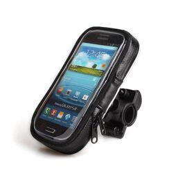 Wholesale Handlebar Mount Phone - S5Q Motorcycle Bike Handlebar Holder Mount + Waterproof Bag Case For Cell Phone AAADKP