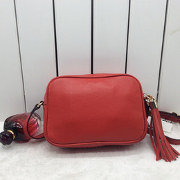 Wholesale Soft Leather Messenger Bag - Hot Fashion design shoulder bag ladies tassel Litchi profile women messenger bags 100% genuine leather bag 308364