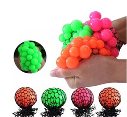 Wholesale Funny Stress Reliever - New 5cm 6cm Cute Anti Stress Face Reliever Grape Ball Autism Mood Squeeze Relief Healthy Toy Funny Gadget Vent Decompression toys