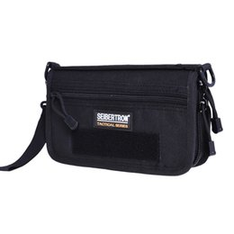 Wholesale Hard Shell Clutch - Seibertron Tactical Clutch Bag Small Tactical Bag Nylon Fabric 1L Tactical Wallet Black And Brown Solid Color Hot Sale