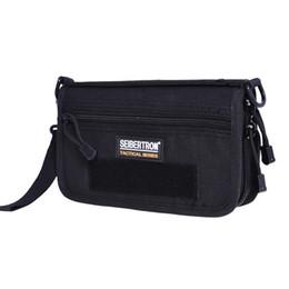 Deutschland Seibertron Tactical Clutch Bag Kleine Taktische Tasche Nylon Stoff 1L Taktische Geldbörse Schwarz Und Braun Einfarbig Heißer Verkauf Versorgung