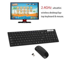 оконная клавиатура xp Скидка Высокое качество мультимедиа 2.4G беспроводной Ультратонкий клавиатура с оптической мышью USB Dongle Combo Set для настольных ПК ноутбуков