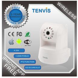 Wholesale Camera Ip Tenvis Iprobot3 - New Tenvis 720P HD IP Camera IProbot3 Wireless CCTV Webcam IRcut Pan Tilt Zoom Network Camera Brand New Fast Freeshipping 1pcs