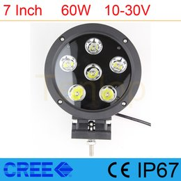 "Wholesale Offroad Led Lightbar - 7"" Inch 6*10W 60W Cree LED Lightbar For Offroad ATV 4*4 Boat 2V 24V"