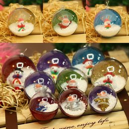 Wholesale Child S Toys - Christmas Balls Party Decorations Christmas Tree Pendant Decoration Child Toys Plastic Transparent Christmas Ball Gifts WX9-158