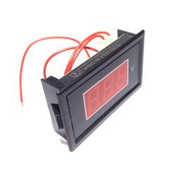 Wholesale Digital Volt Gauges - 5 PCS Mini AC Voltmeter AC 60V-500V Volt Panel Meter Gauge Red Three 0.56'' LED Digital Display Voltage Monitor Free Shipping