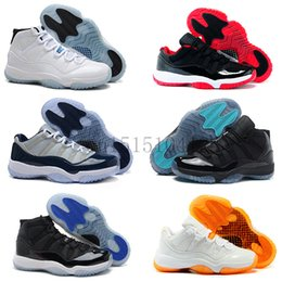 Wholesale Cheap 11 Boots - 2016 cheap air Retro 11 XI basketball shoes Bred Navy Gum White Citrus gamma legend blue Georgetown Infrared Varsity Red sneaker boots