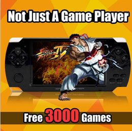 Wholesale 8gb Mp5 Player Tv Out - Portable Game Console 4GB 4.3 Inch PMP Handheld Game Player MP3 MP4 MP5 Player 8GB Video FM Camera