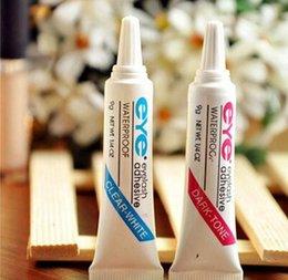 Wholesale Eye Lashes Glue Duo - 500pcs Good Quality DUO Eye Lash Glue Clear White & black Makeup Adhesive Waterproof False Eyelashes Lady makeup tool eyelash glue