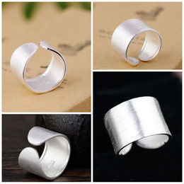 Wholesale Plain Sterling Silver Ring - Plain silver ring 925 Fashion Open wire ring S925 sterling silver wholesale women's simple fashion gift Jewelry wholesale