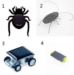 Arañas robot online-4 estilos Robot regalo de cumpleaños de Navidad Solar Spider Car Grasshopper Cucaracha juguetes educativos B