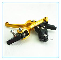 Wholesale Asv Levers Pit Bike - ASV model Golden alloy Poignee d'embrayage lever 11.7mm for motorcross pit bikes, 22mm-28mm handle tube available