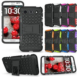 Wholesale Optimus G Covers Stand - Newest Hard Soft Combo Smart Phone Case For LG Optimus G Pro E980 Shockproof Grenade Grip Rugged Cover Stand Free Shipping