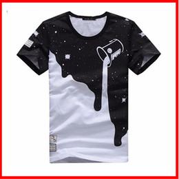 Wholesale Wholesale Designers Clothes - Wholesale-Mens Summer Tee New Man Plus Size Shirt Short Sleeve t shirt Milk Printed Cotton T-shirts Men 3D Designer Clothing M-XXXL MTS796